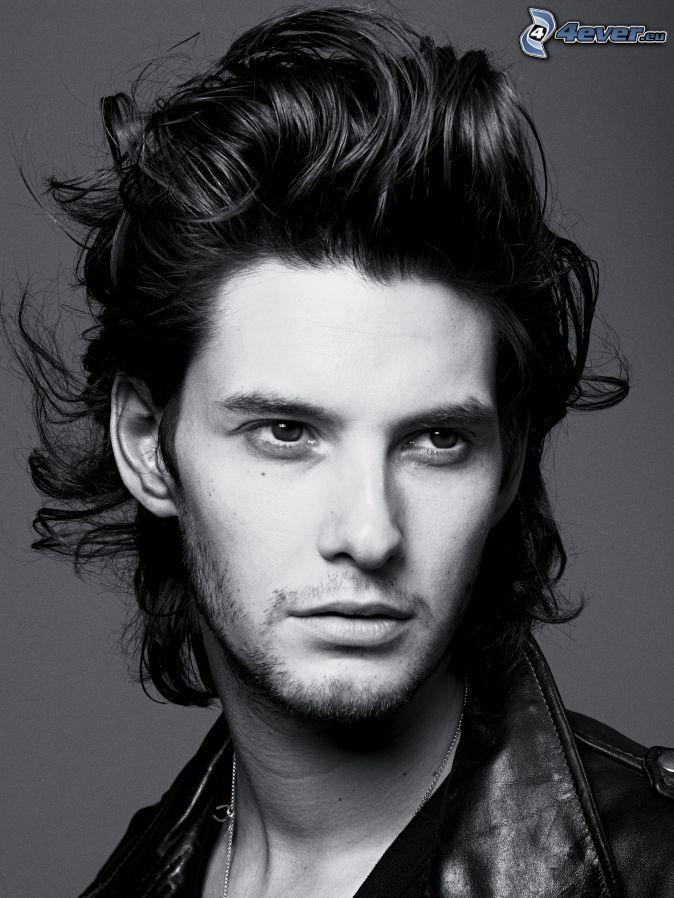 <b>Ben Barnes</b>, coiffure, photo noir et blanc - ben-barnes,-coiffure,-photo-noir-et-blanc-240029