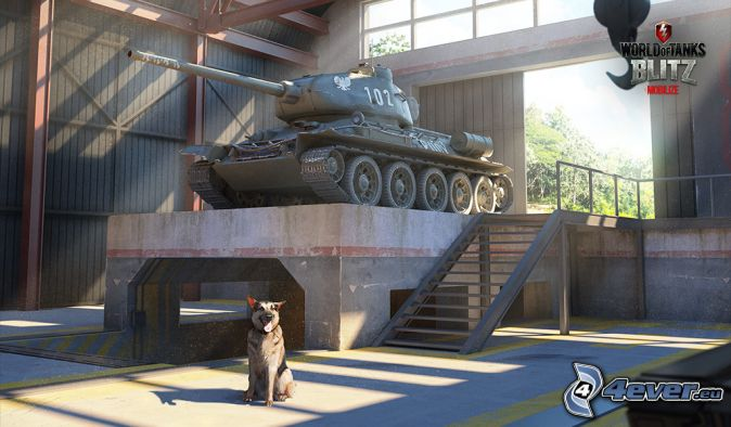 World of Tanks, char, chien-loup, salle