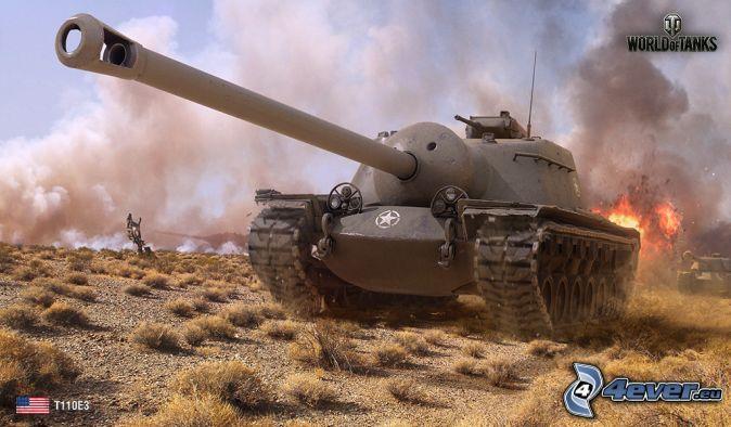 World of Tanks, char, feu