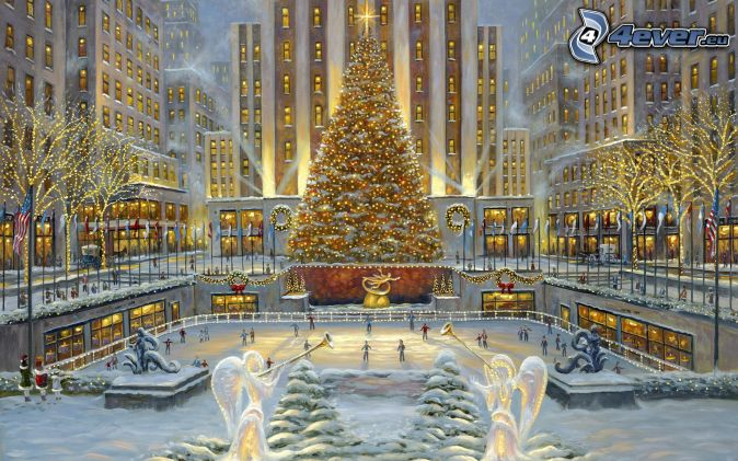 Patinoire for When does new york start decorating for christmas