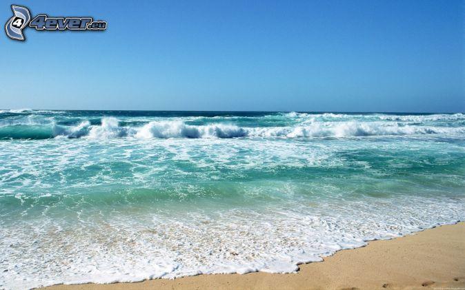 Poèmes et Textes sur le Lâcher-prise    Vagues-sur-le-rivage,-mer-verte,-plage-154095