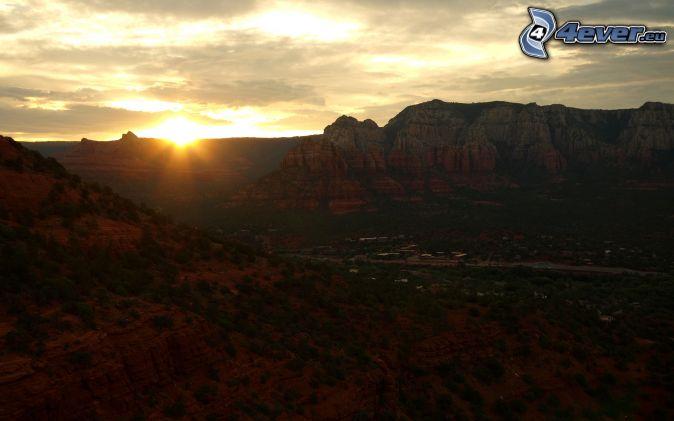 Sedona - Arizona, Monument Valley, coucher du soleil