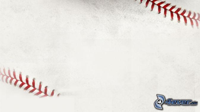 balle de baseball, fond blanc