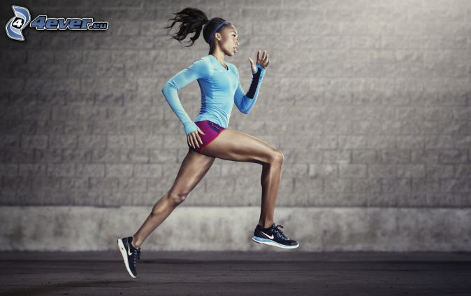 course, femme sportive