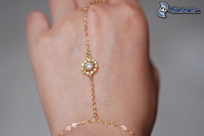 bracelet, collier, main