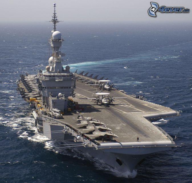 R91 Charles de Gaulle, porte-avions, ouvert mer