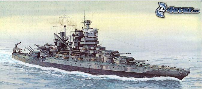 USS Idaho, dessin animé