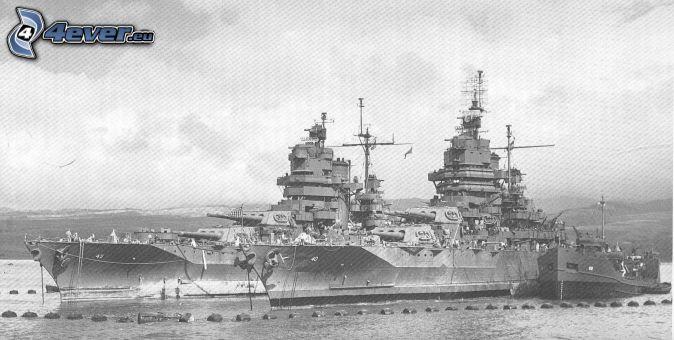 USS Idaho, photo noir et blanc