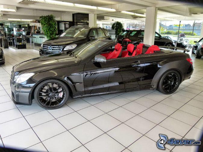 Cabriolet Brabus 800, exposition, salon de l'automobile