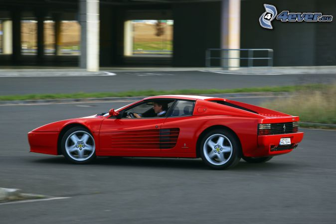 Ferrari TR, la vitesse