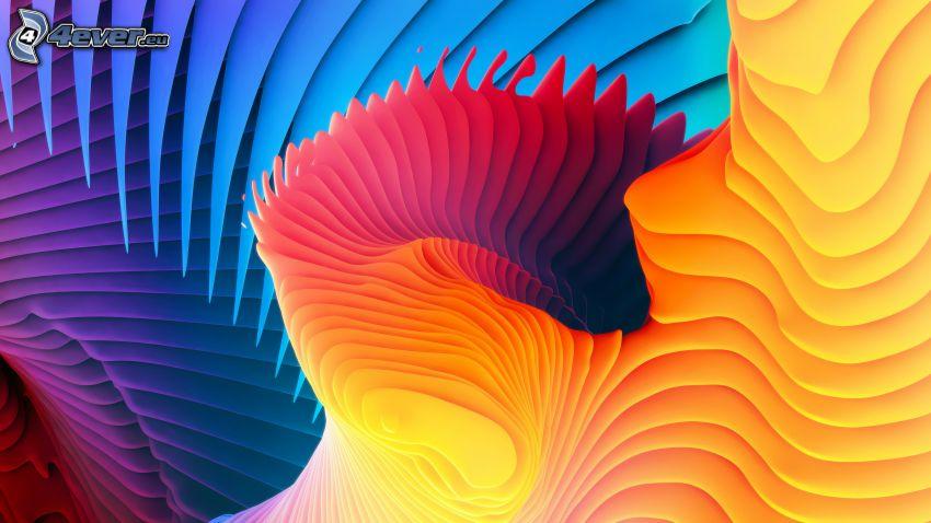 abstrait, des lignes colorées