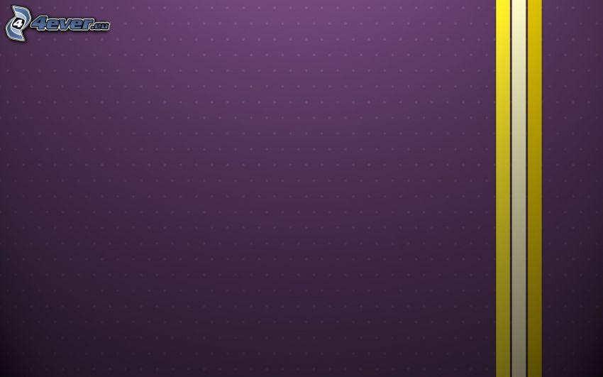 bandes, le fond violet