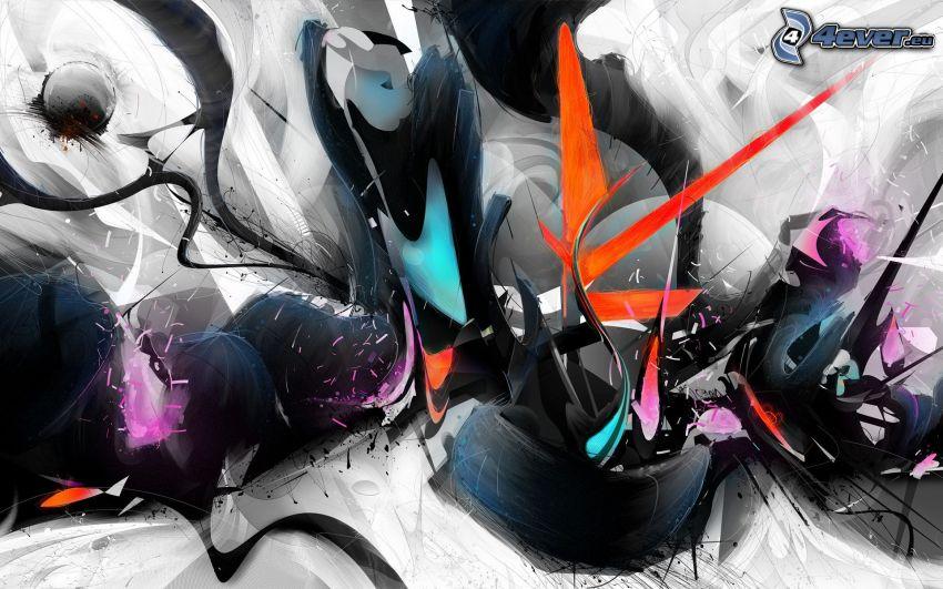 bandes, les ondes colorées