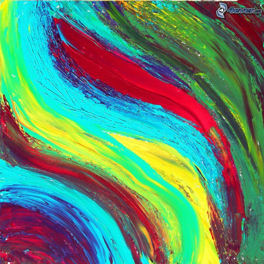 bandes colorées, couleurs