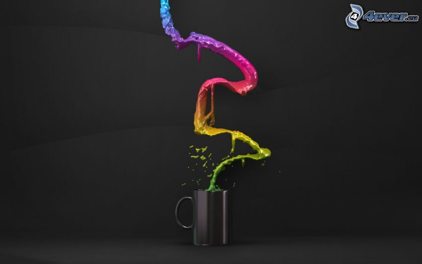 couleurs, tasse