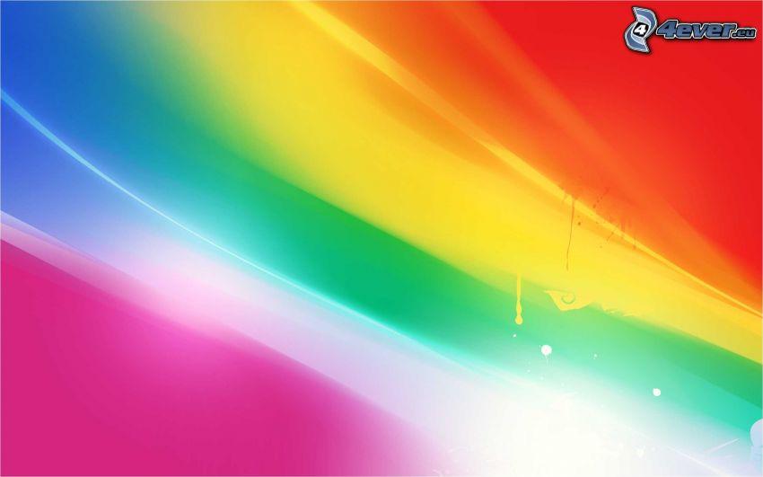 des lignes colorées, arc en ciel