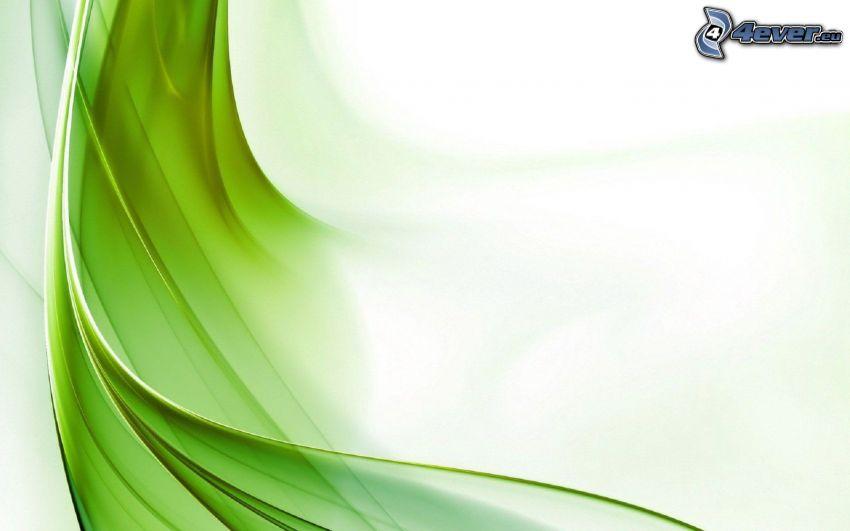 des lignes vertes