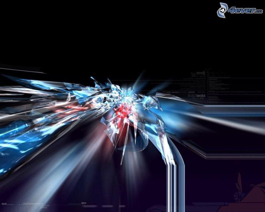 explosion, 3D