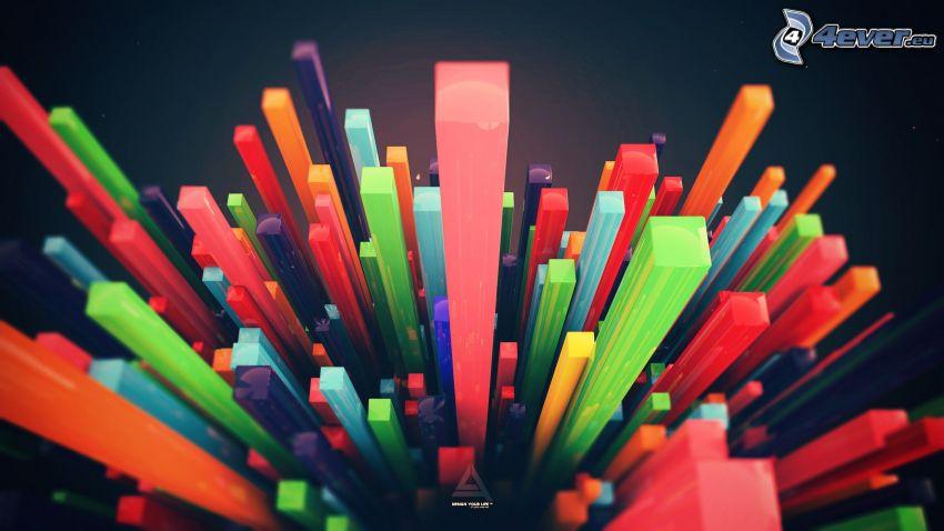 les cubes, couleur