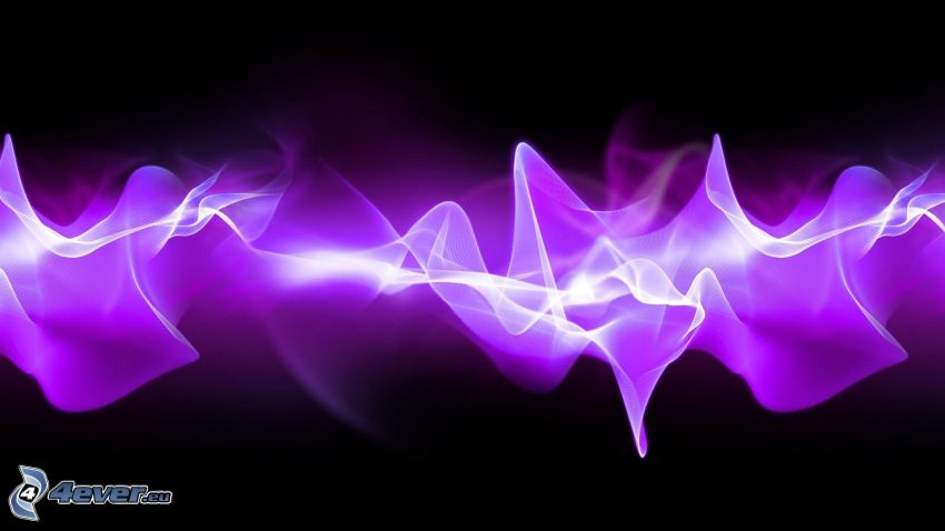 lignes blanches, fumée, lignes violettes