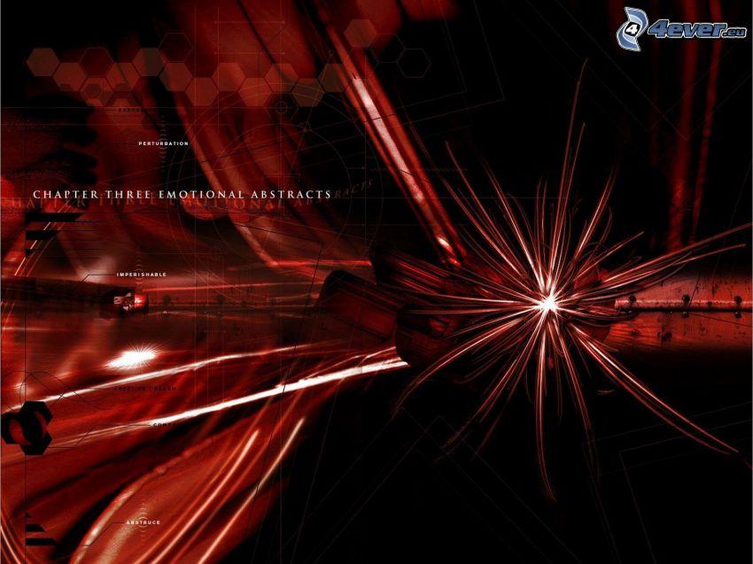 lignes rouges, abstrait