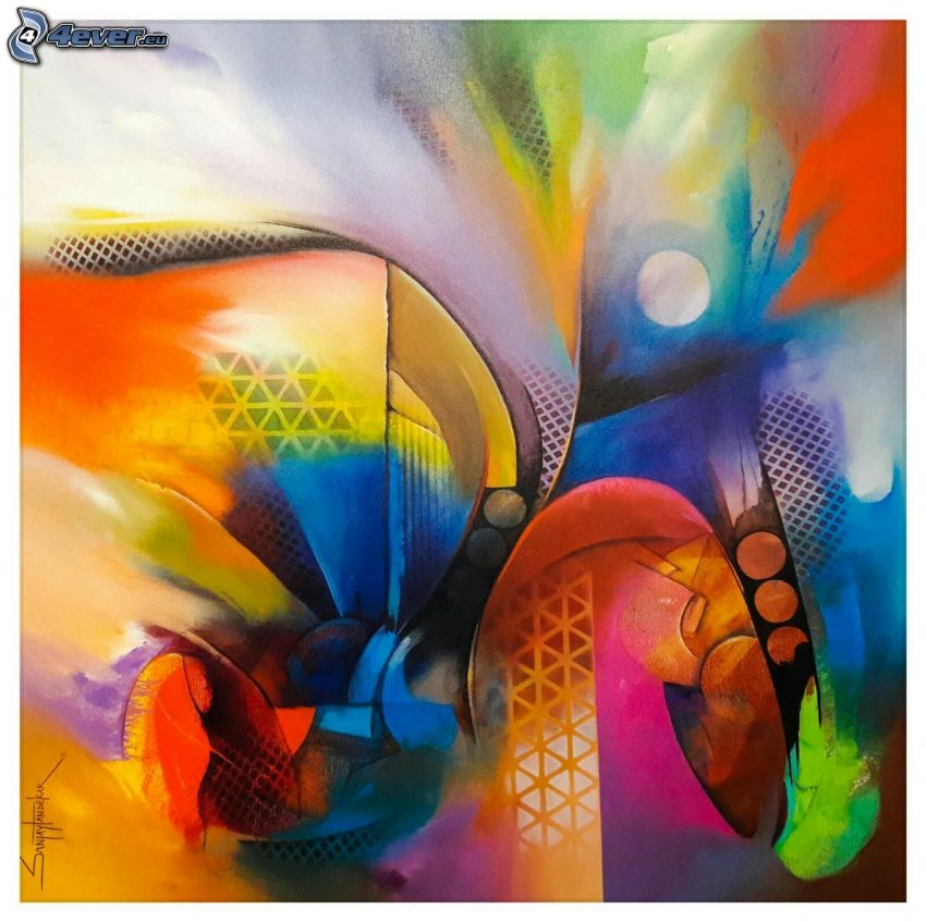 macules colorées, cercles, couleurs