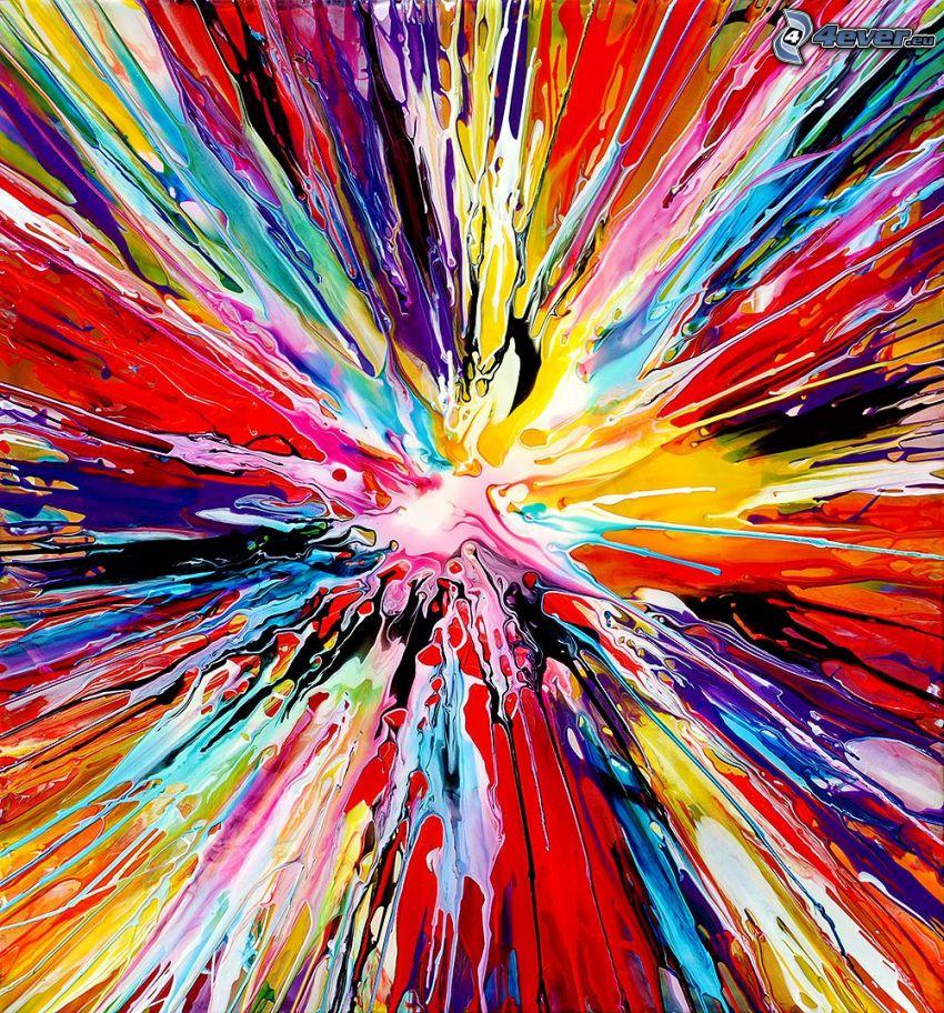 macules colorées, des lignes colorées