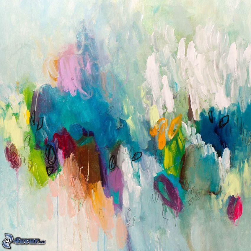 macules colorées