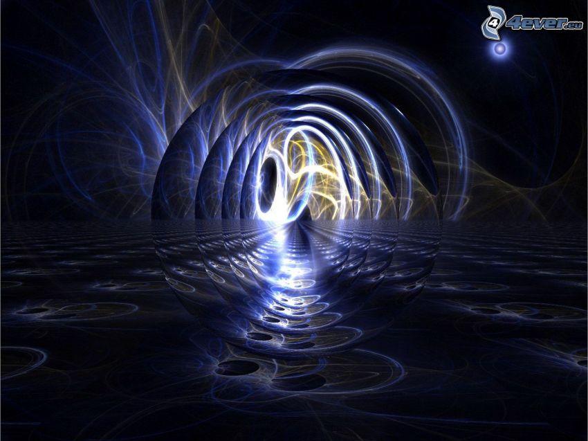 vagues abstraites, électricité