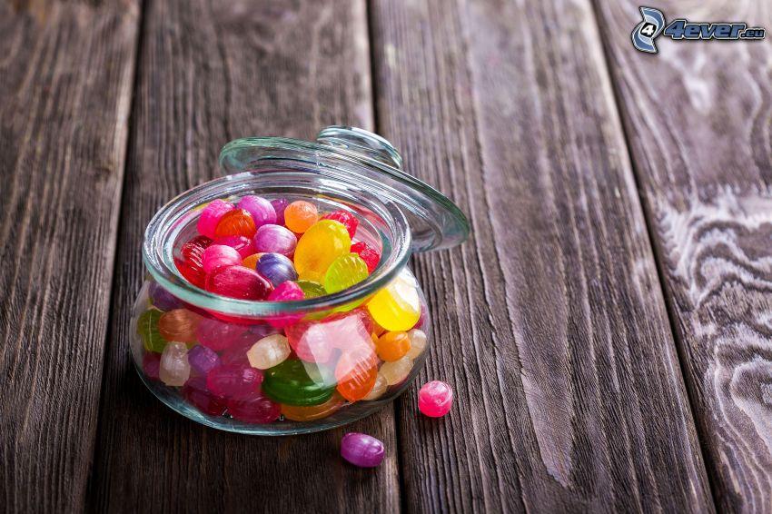 bonbons, bol, bouclier