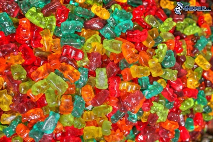 bonbons, gelée, oursons