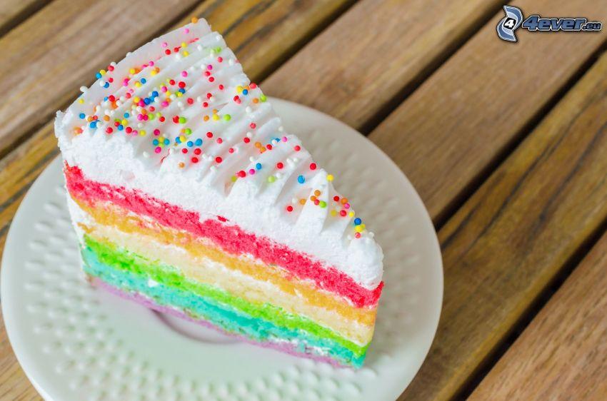 morceau de gâteau, couleurs