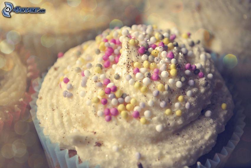 Muffins, gâteau, bonbons
