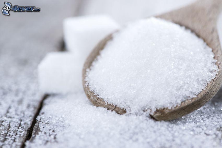 sucre, cuillère