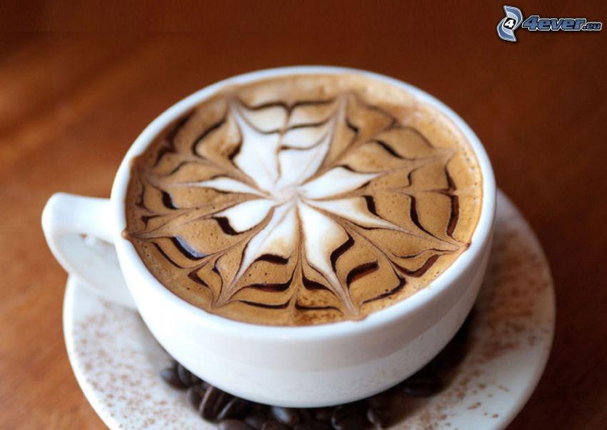 tasse de café, latte art