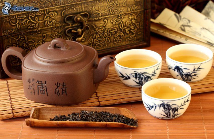 tasse du thé, théière