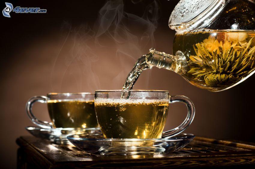 thé d'herbes, théière