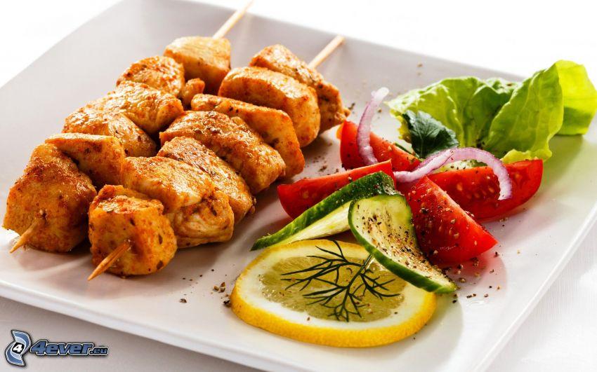 viande, légumes