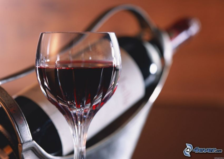 vin, tasse, bouteille