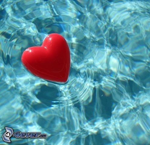 cœur, amour, eau