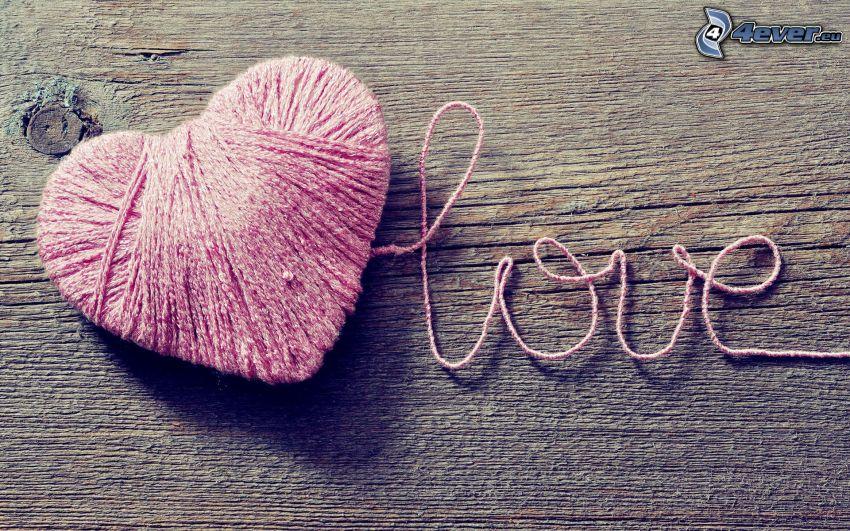cœur, love, laine