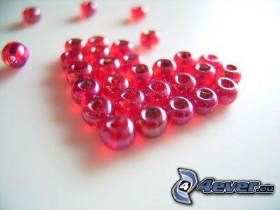 cœur, perles