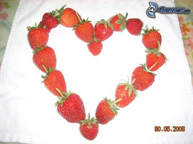 cœur de fraises