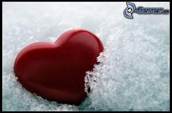 cœur gelé, glace, amour