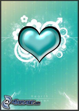 cœur vert, amour