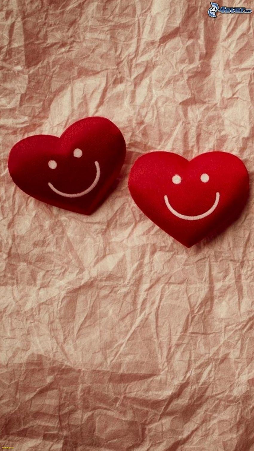 cœurs, frimousse