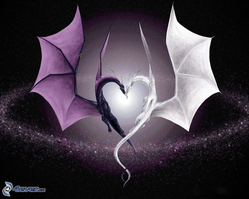 Dragons, cœur, amour