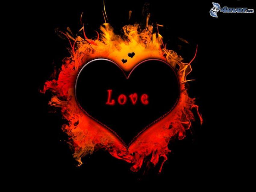 love, amour, feu