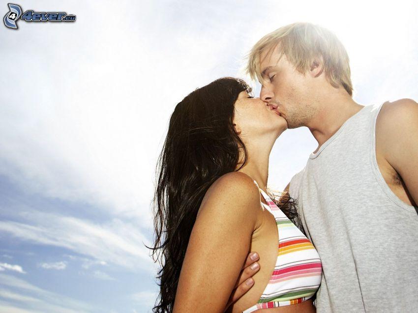 baiser, couple