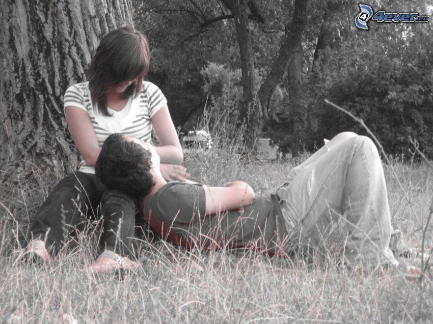 couple sur la prairie